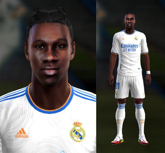 Eduardo Camavinga Face (Real Madrid) For PES 2013
