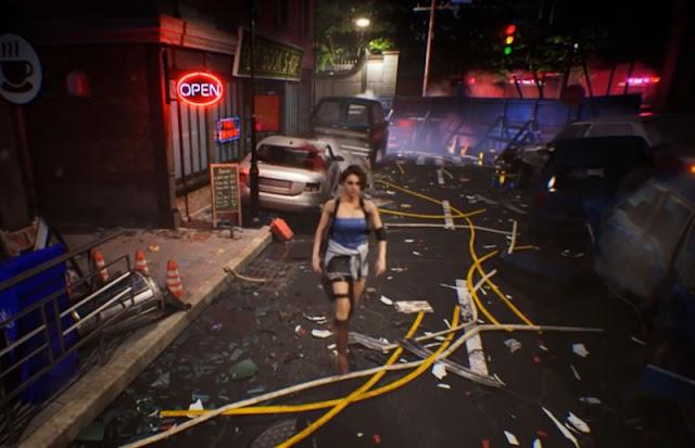 Resident Evil 3: Nemesis em um remake usando Unreal Engine 5