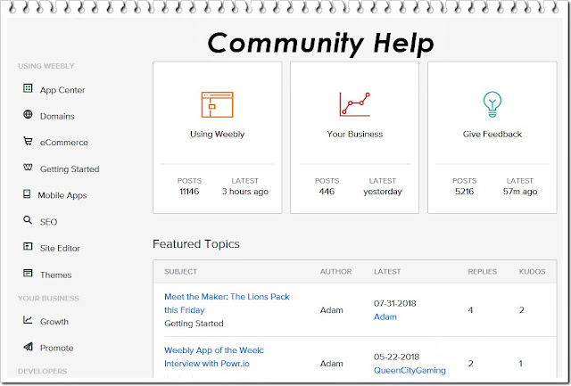 community weebly