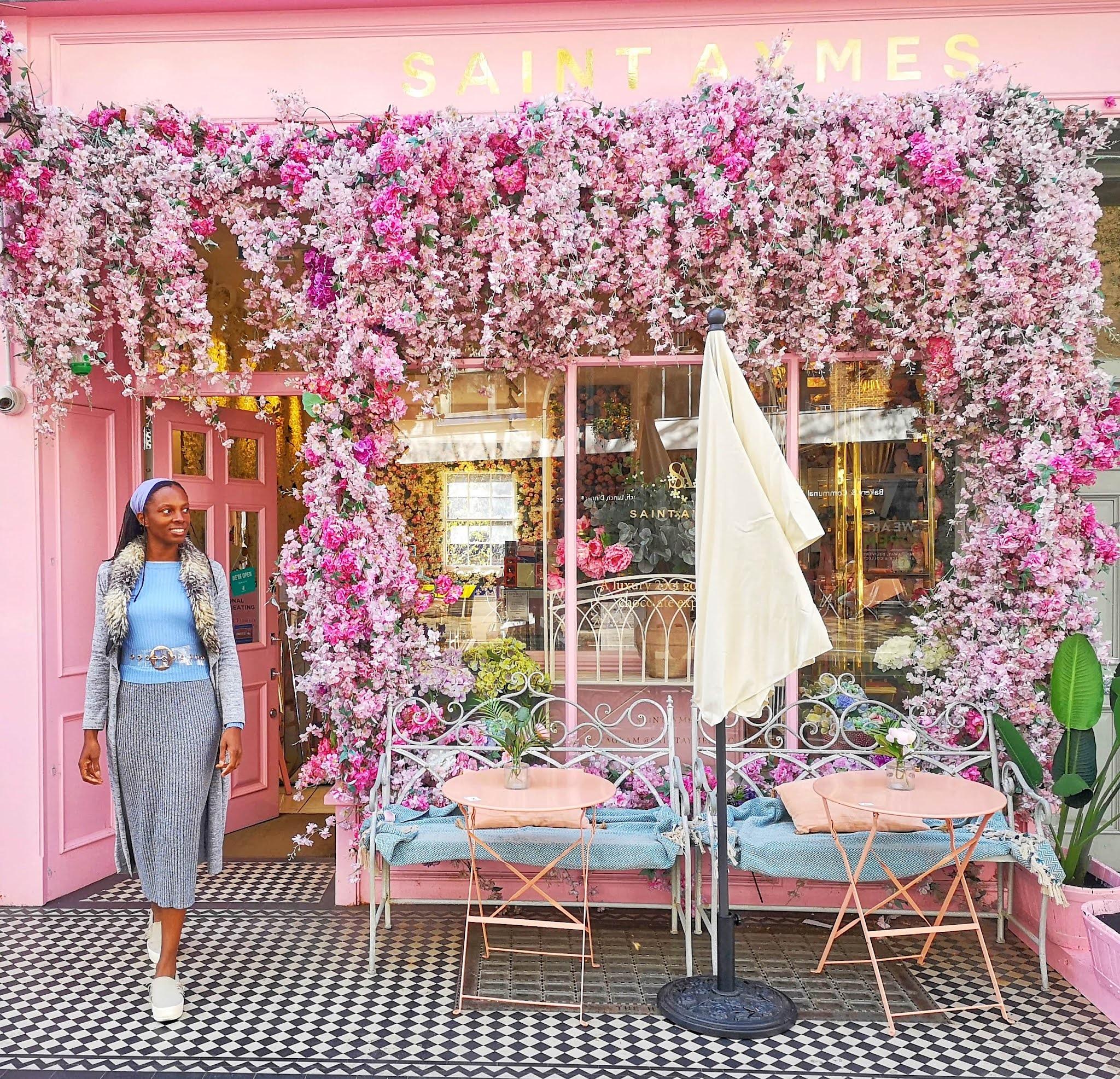 Pink cafe London