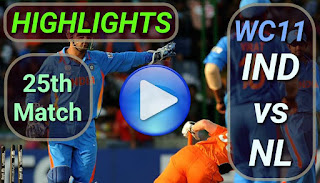 IND vs NL 25th Match
