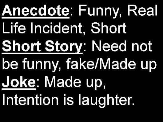 Anecdote Vs Short Story Vs Joke With Examples Of Anecdotes For