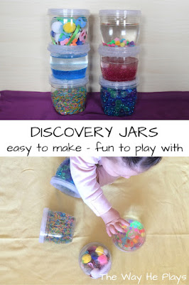 Picture collage of discovery jars