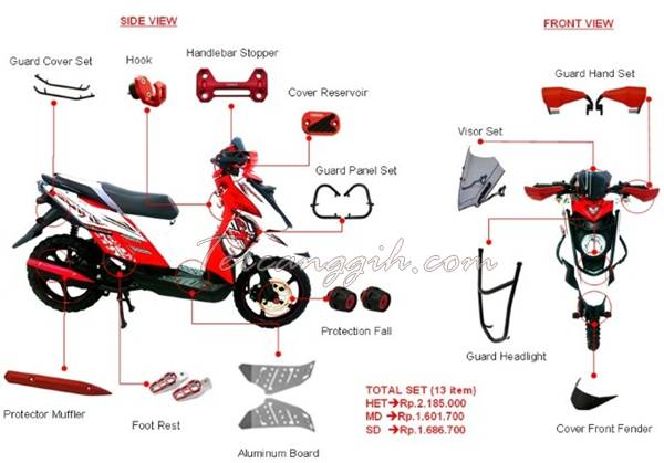 Aksesoris Yamaha X-Ride 2013