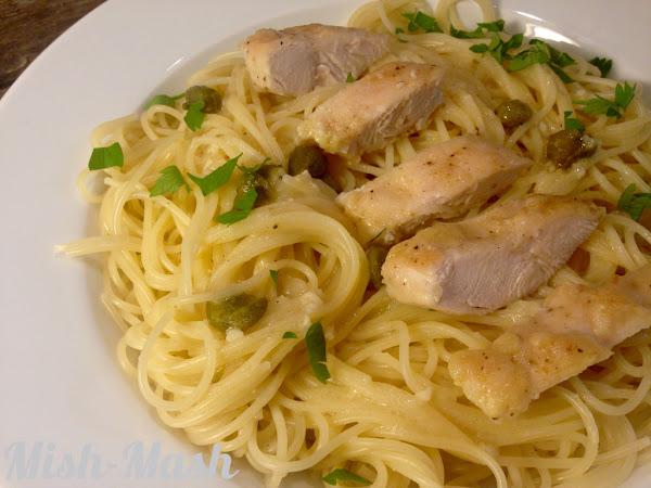 Паста с пиле и пармезан