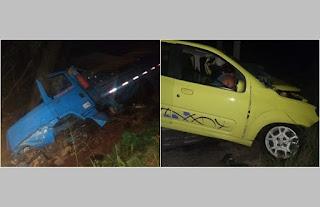 Duas pessoas morrem após colisão de caminhão com Uno entre Pirpirituba e Belém, PB