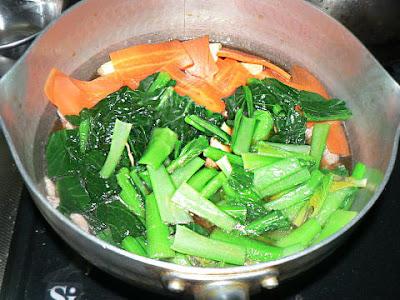 野菜を煮物へ