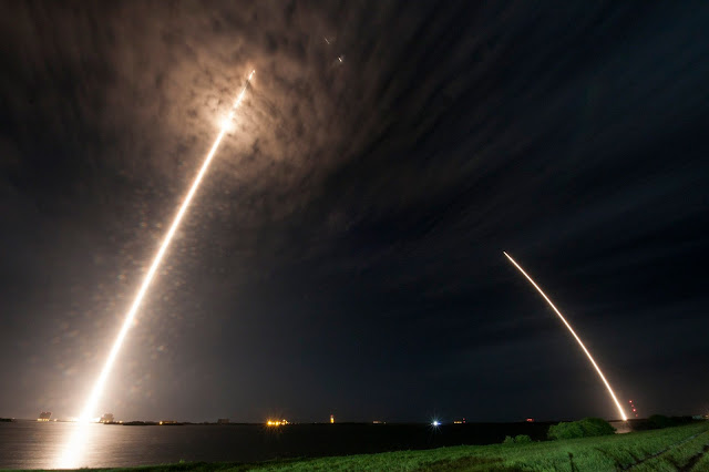 SpaceX Falcon 9 Rocket Launches And Lands At Cape Canaveral, Florida