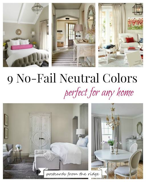 rooms painted in neutral paint colors