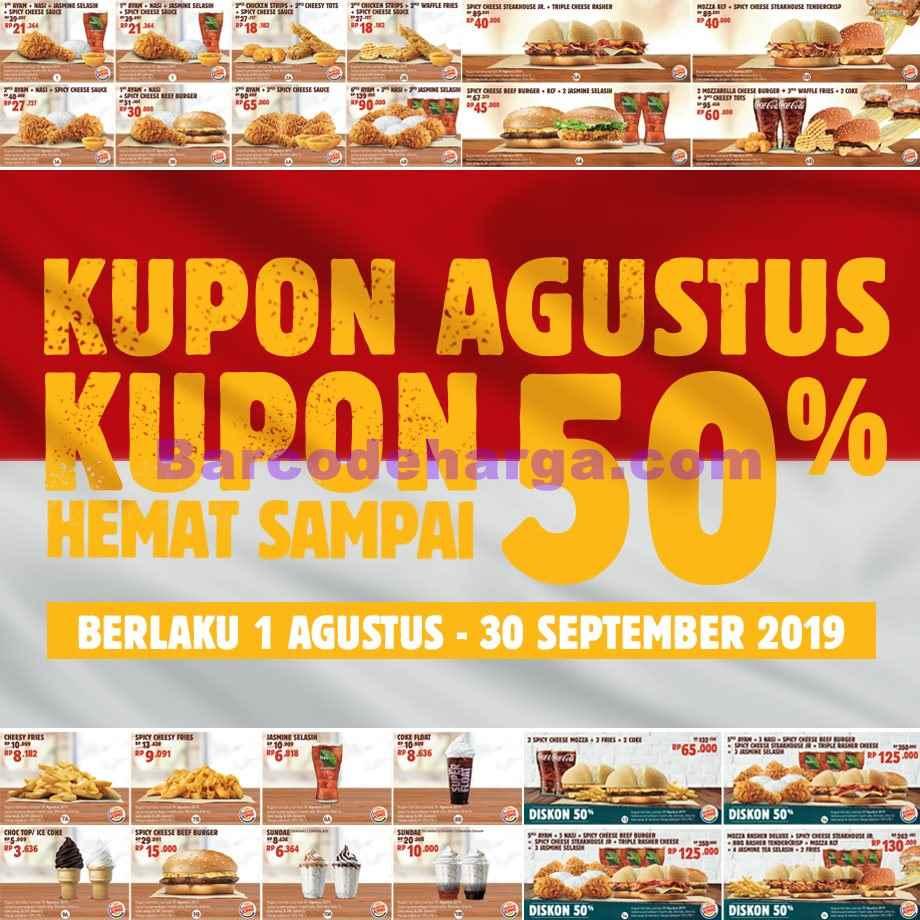 Harga Promo Burger King Terbaru September 2019