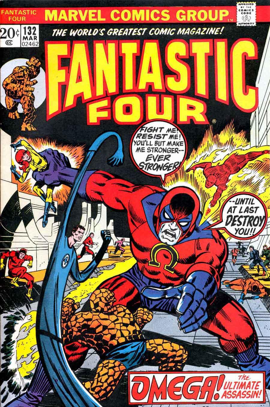 Fantastc Four v1 #132 marvel comic book cover art by Jim Steranko
