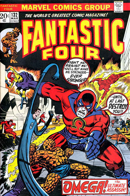 Fantastc Four v1 #132 marvel comic book cover art by Jim Steranko