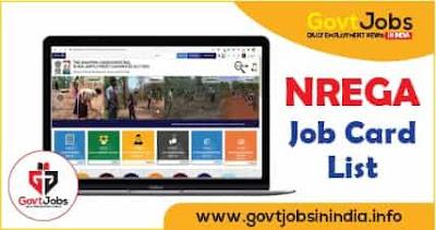 NREGA Job Card List 2021