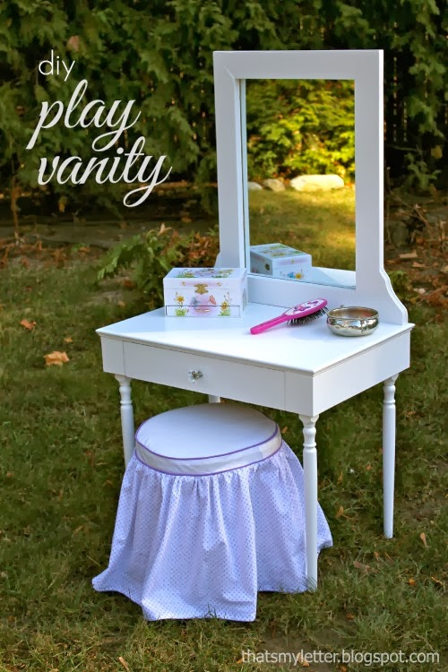 diy kids play vanity and stool