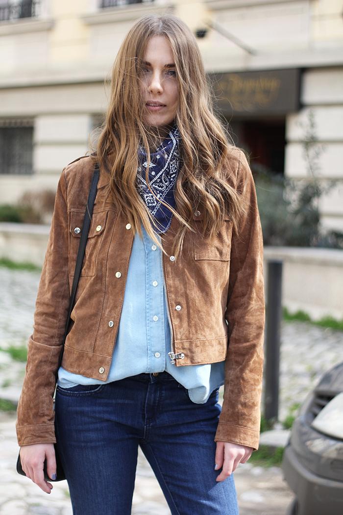 d6a962fd9f sandals  zara jeans  massimo dutti shirt  massimo dutti jacket   stradivarius scarf  vintage bag  gucci ph. Olja