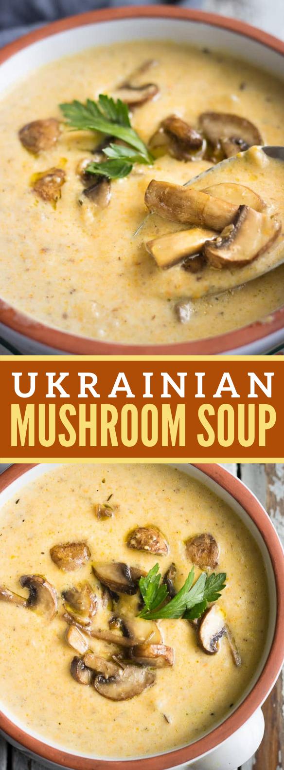 UKRAINIAN MUSHROOM SOUP #vegetarian #veggies