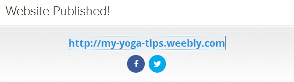 My-Yoga-Tips is published now on weebly