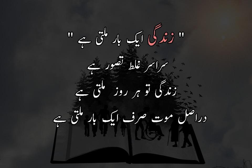 Sad Urdu Quotes About Life Beautiful Zindagi Quotes In Urdu Pic