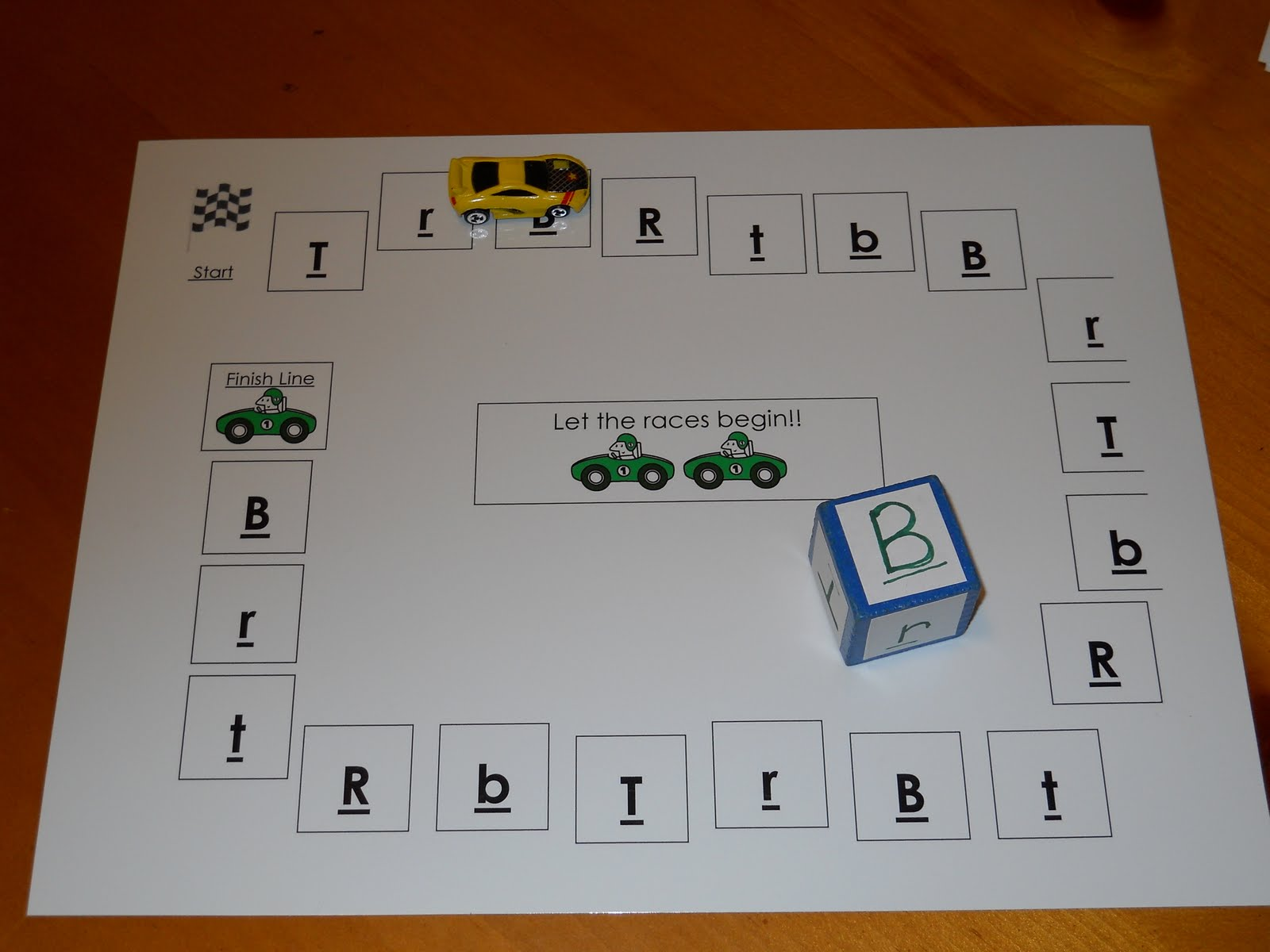 Learning And Teaching With Preschoolers Letter Recognition Race Track Game