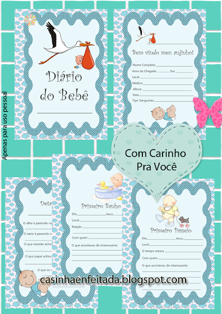 diario do bebe para imprimir gratis baixar download