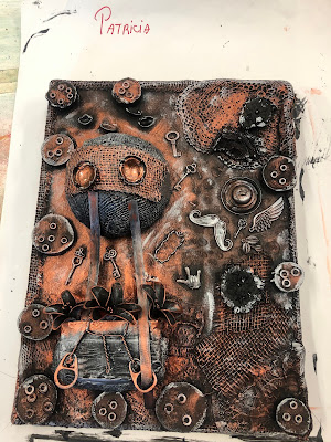 Steampunk up-cycled workshop with Stanislava Boudová (stanislavaarts.eu) - Our works of art are finished!