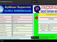 Aplikasi Supervisi Guru Bimbingan Konseling Lengkap Format Excel