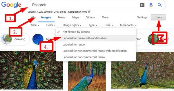 google copyright images ko kaise use kare