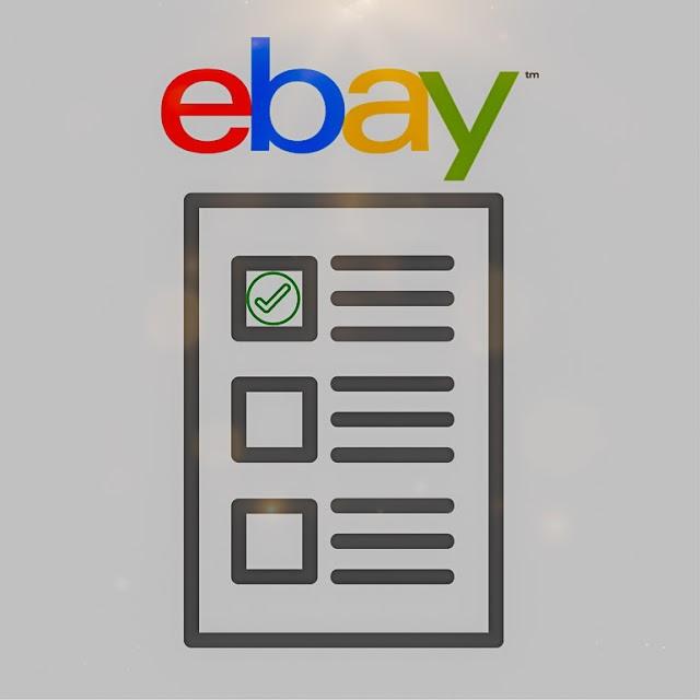 An eBay Seller's Checklist.