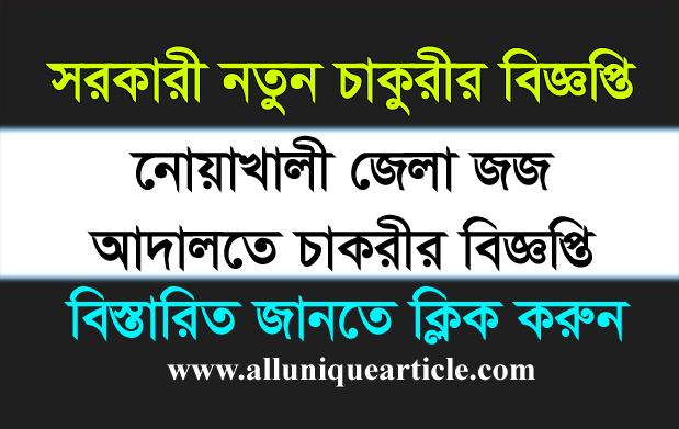 District Judge Court Noakhali Job Circular