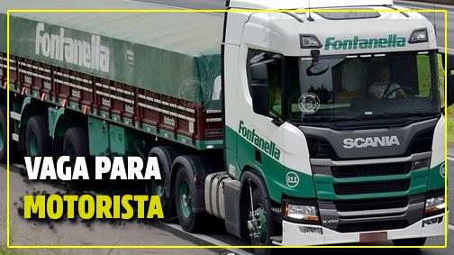 Transportadora Fontanella abre vagas para Motorista
