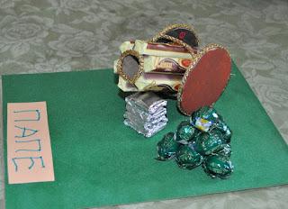 подарок для мужчины из конфет
