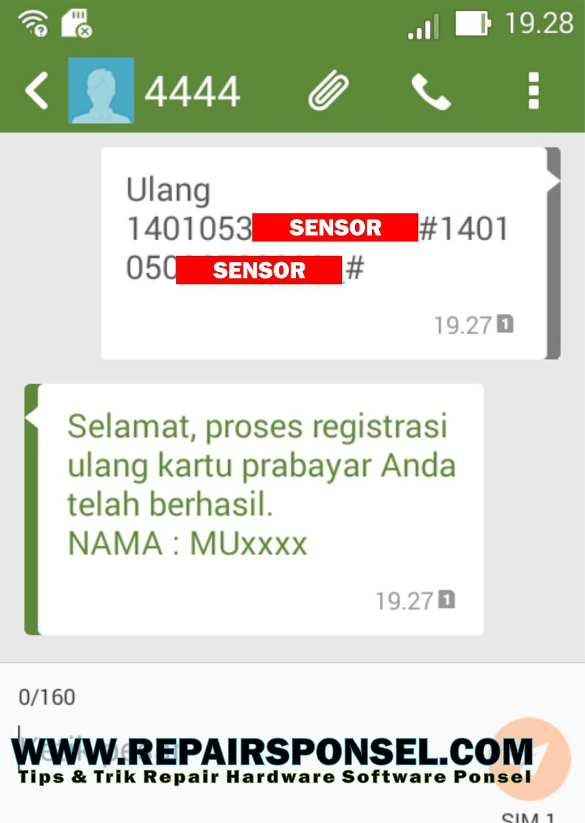 Cara Registrasi Ulang Kartu Telkomsel Simpati, AS, Loop  Repairs Ponsel