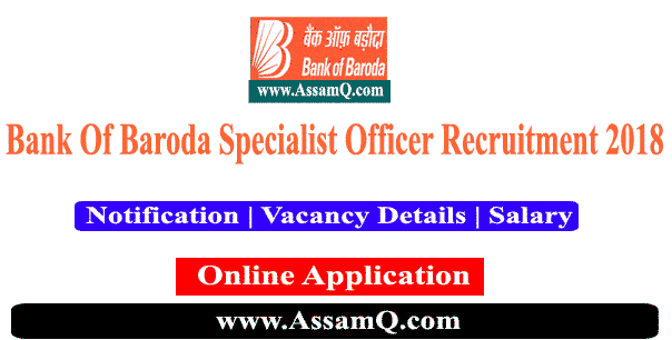 Bank Of Baroda Recruitment 2018 - Specialist Officer(Wealth Dept.) [424 Nos.]