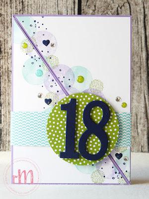 Stampin' Up! rosa Mädchen Kulmbach: diagonale Geburtstagskarten mit Fürs Etikett und Vielseitige Grüße