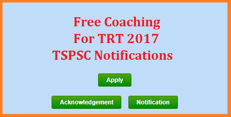 TRT 2017 Telangana DSC SGT Free Coaching by TS BC Study Circle Online Application Form - Register Here Teachers Recruitment Test 2017 SGT Preparation | TSPSC TRT 2017 Notification issued by TSPSC Free Coaching by Telangana BC Study Circle Register Selection Test Dates and Schedule Online http://studycircle.cgg.gov.in/tsbcw/Index.do | How to Apply Online for Free Coaching for SGT Web Link http://studycircle.cgg.gov.in/tsbcw/TSBCSGTCoachingReg.do | Aspirants who are preparing for Telangana State Teachers Recruitment Notification 2018 BC Backward Classes Study Circle offering Free Coaching to SGT Candidates of Teachers Recruitment Test 2017 TRT throught the Telangana in District Head Quarters of Earstwhile Districts of Telangana State | Aspirants have to Apply Online at TS BC Study Circle Official Website with proofs of Application for the particular Post | Last date to fill Online Application Form tspsc-trt-telangana-dsc-2017-notification-free-coaching-sgt-sa-lp-pet-pd-constable-by-ts-bc-study-circle-apply-online ts bc study circle free coaching for tspsc trt dsc telangana sa sgt apply online