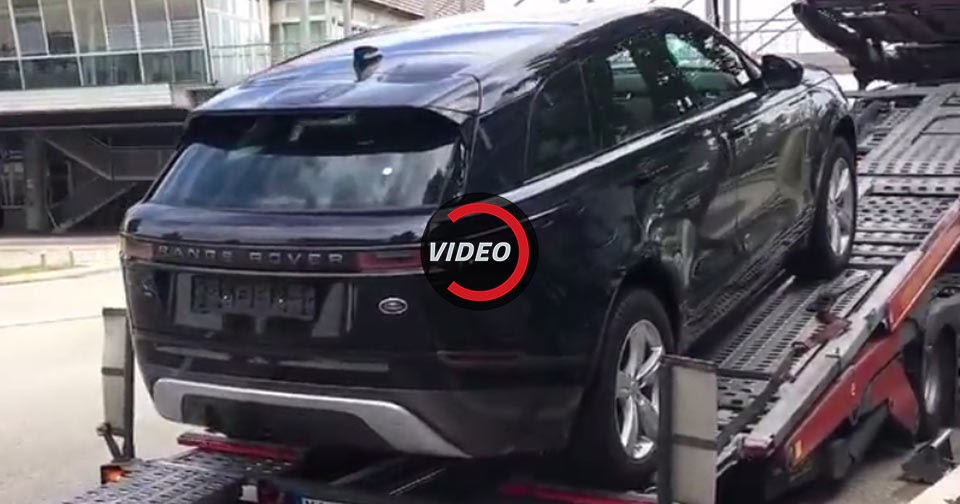 2018 range rover velar gets delivered in munich. Black Bedroom Furniture Sets. Home Design Ideas