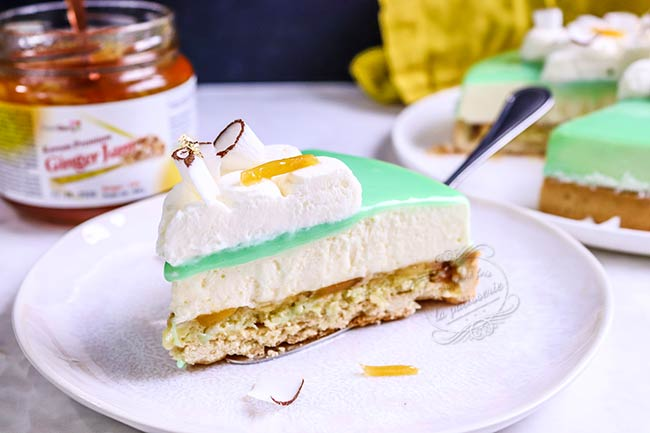 recetet tarte entremets citron gingembre coco