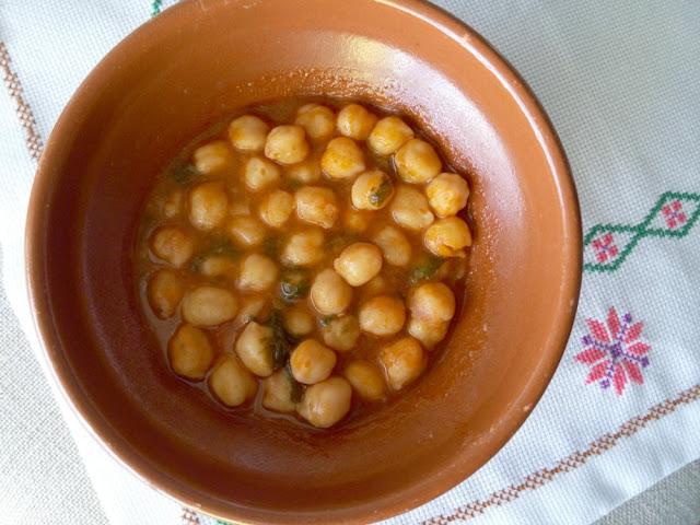 Potaje de garbanzos con espinacas