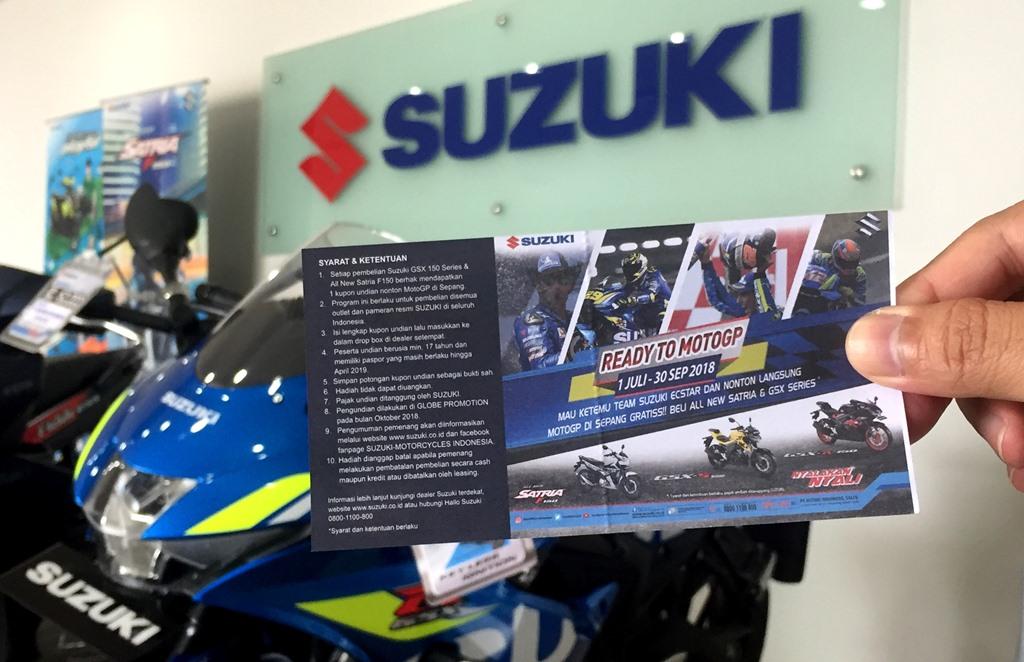 Puluhan Konsumen Suzuki Beruntung Nonton MotoGP di Sepang
