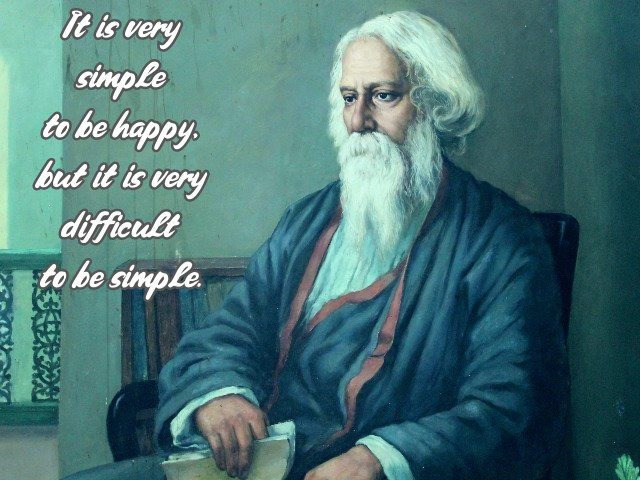 A man with a spiritual heart and an intellectual soul, a multifaceted personality who was a composer, a painter, a songwriter, a novelist and a poet was known as Rabindranath Tagore.