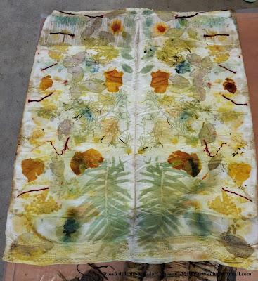 ecoprint ecoprinting corso corsi tintura naturale stampa tessuto vegetale