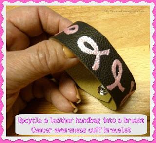 Breast cancer awareness wristlet