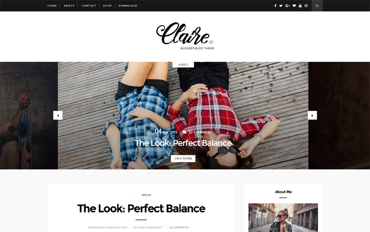 Claire Free Blogger Template