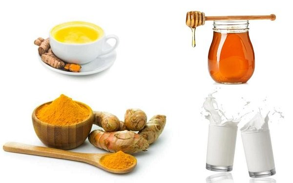 What are the benefits of milk, turmeric and honey?