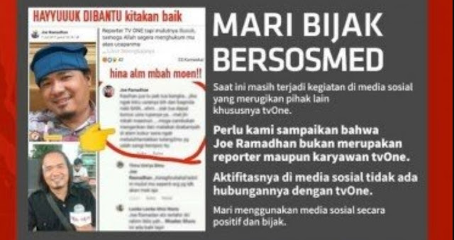 5 Fakta Klarifikasi tvOne soal Joe Ramadhan Hina Mbah Moen