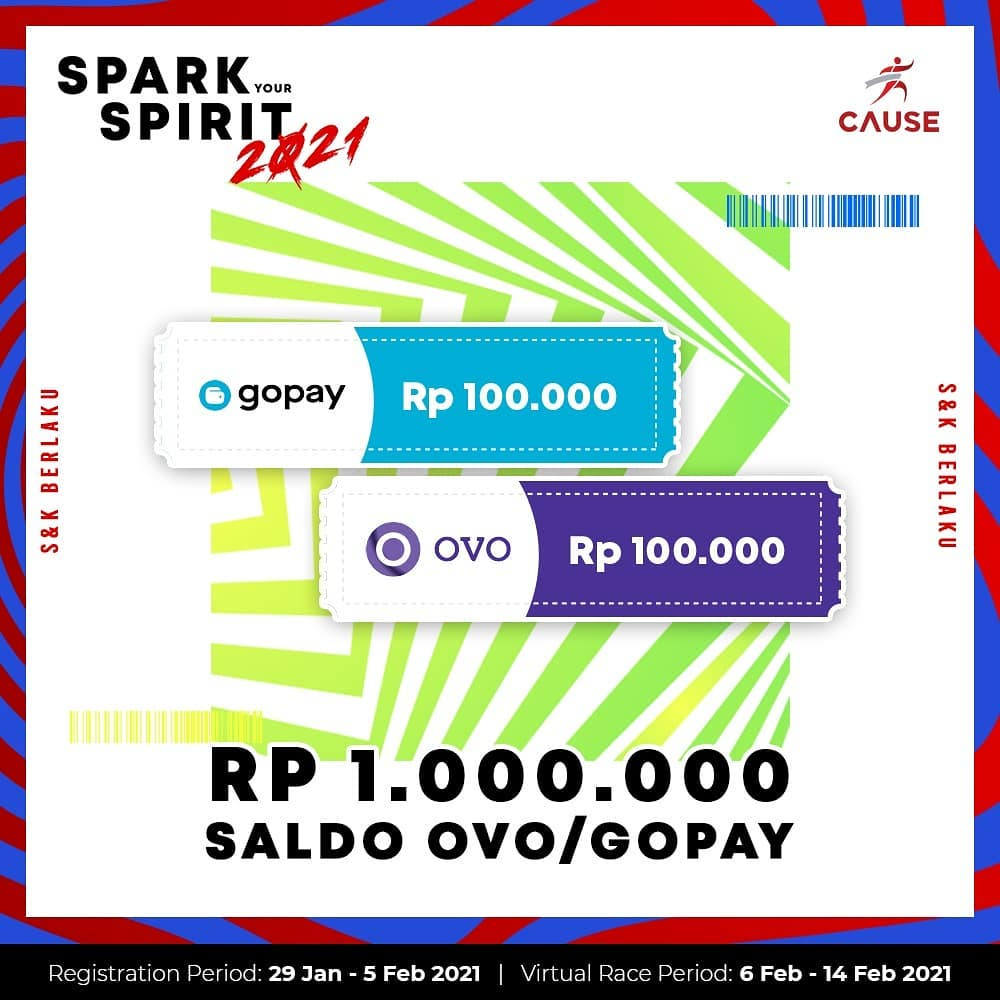 Doorprize 🎁 Spark Your Spirit - Virtual Run & Ride • 2021