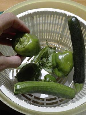 Ottobre nell'orto di Elle e Alli: peperoni, zucchine e rucola.