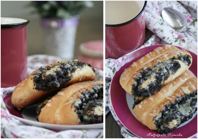 lukier ze skórką cytrynową, drożdżowe ciasto, masa makowa, daylicooking, Małgorzata Kijowska