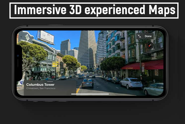 Immersive 3D experienced Maps