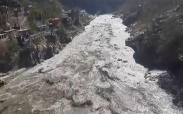Ινδία: Επτά νεκροί και 125 αγνοούμενοι μετά την κατάρρευση τμήματος παγετώνα των Ιμαλαΐων